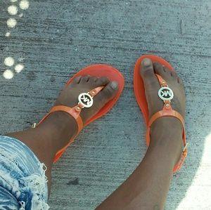 Michael Kors Orange Sandals